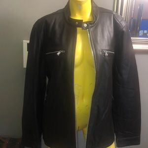 MICHAEL KORS MENS Leather Moto Jacket NWT XL